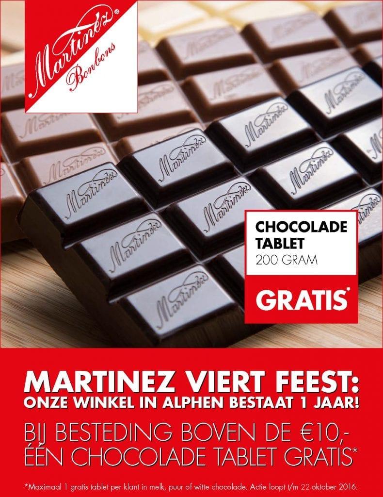 Martinez Chocolatier viert feest!